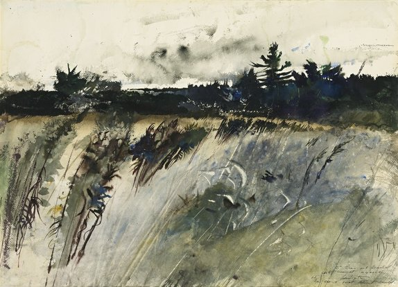 Andrew Wyeth Watercolor Painting